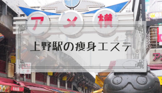 上野駅周辺の痩身エステで体験ダイエットモニターを募集しているエステサロンまとめ